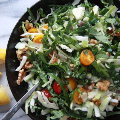 Tuesday Night Quickie: Kale and Walnut Slaw