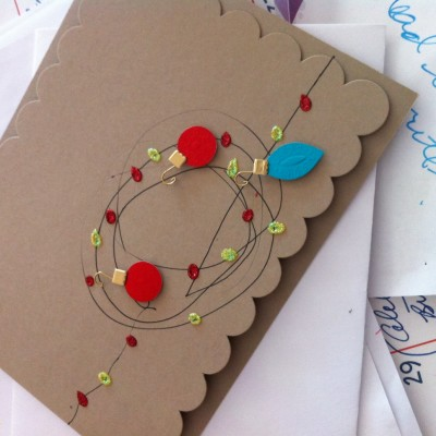 Happiness Post #44: Homemade Christmas Cards