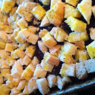 Happiness Post #46: Homemade Croutons
