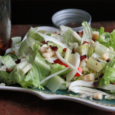 A Winter Salad: Maple Bacon Fennel