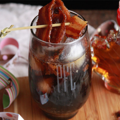 Celebrating Real Life Romance: Bacon Maple Cocktail