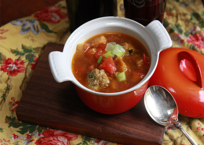 #CelebratingPumpkin: Lamb Meatball Soup