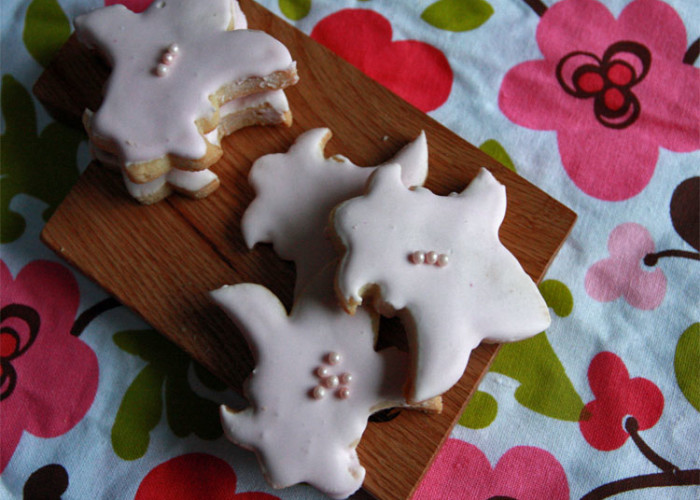 #fbcookieswap: Rosewater and Lemon Cut-outs