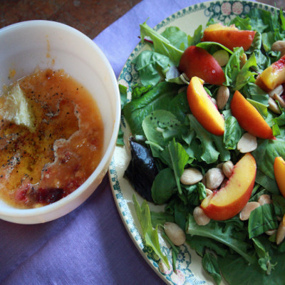 #TuesdayNightQuickie: Peach Salad