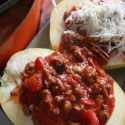 #WarmingWednesday: Stuffed Spaghetti Squash