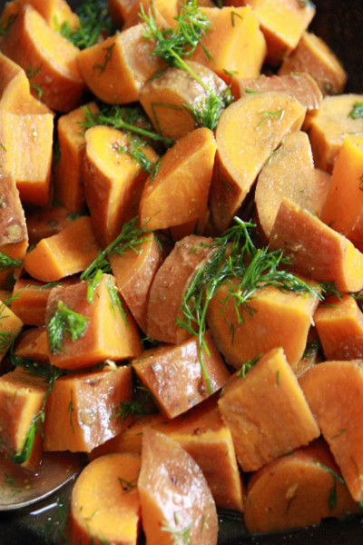 #WhiteoutWednesday: Sweet Potato Salad
