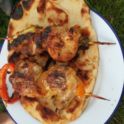 #TuesdayNightQuickie: Curry Pork Kebabs