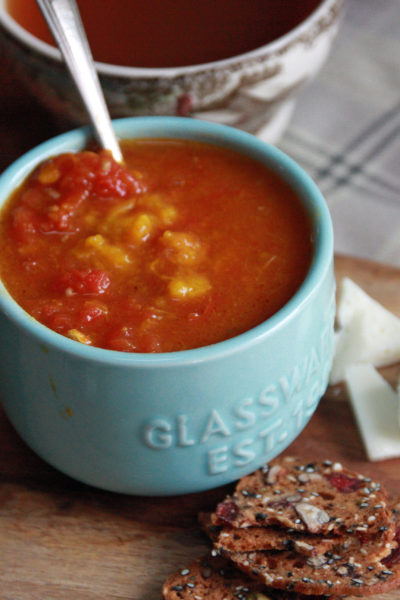 #TuesdayNightQuickie: Roasted Squash and Tomato Soup