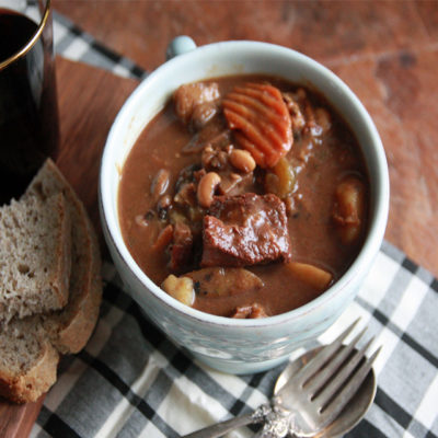 #CelebratingtheHarvest: Bean, Beef and Bacon Stew