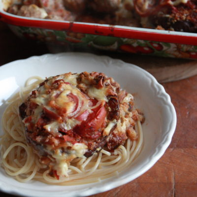#SecondMondayTreat: Eggplant Meatball Casserole