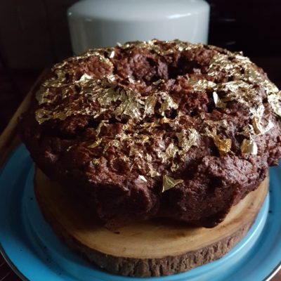 #BundtBakers: Gilded Chocolate Chai Cake