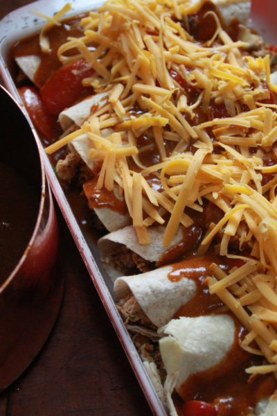 #FridayNightTreat: Chicken Enchiladas